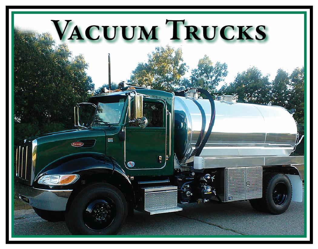 Vacuum trucks for sale